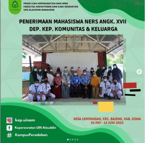 Penerimaan Mahasiswa Ners XVII Departemen Komunitas dan Keluarga