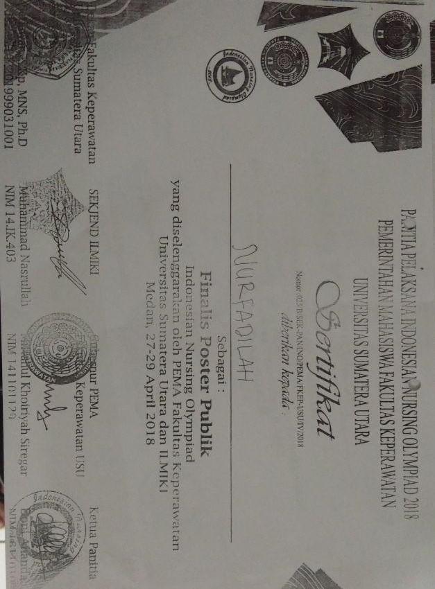 Indonesia Nursing Olimpiade di Universitas Sumatera Utara